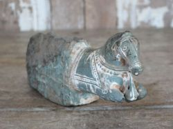 19th Century Stone Horse Finial Sculpture, circa 1890 <b>SOLD<b>